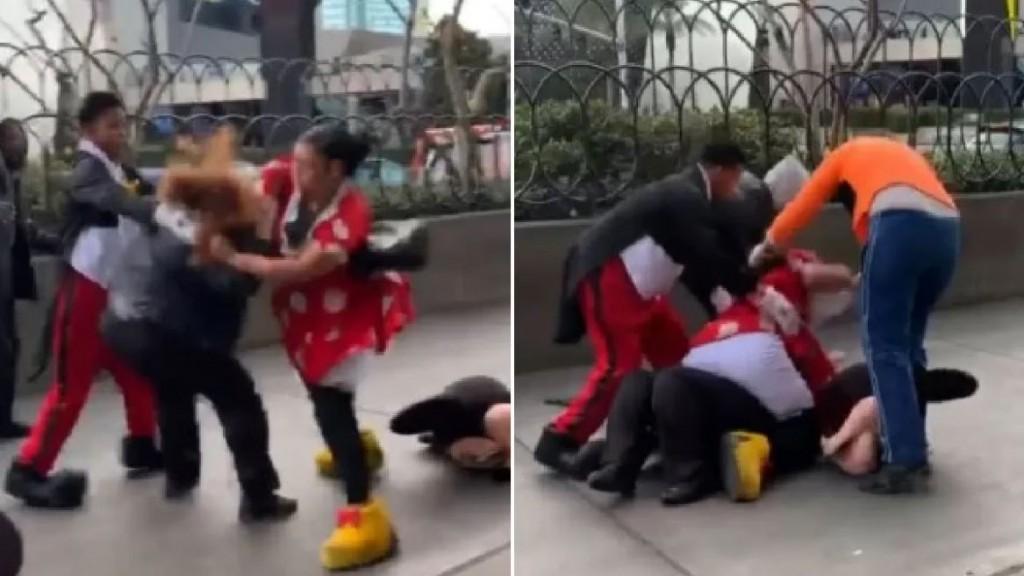 Minnie se peleó con una policía por defender a Mickey