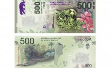 Comienza a circular el billete de quinientos pesos