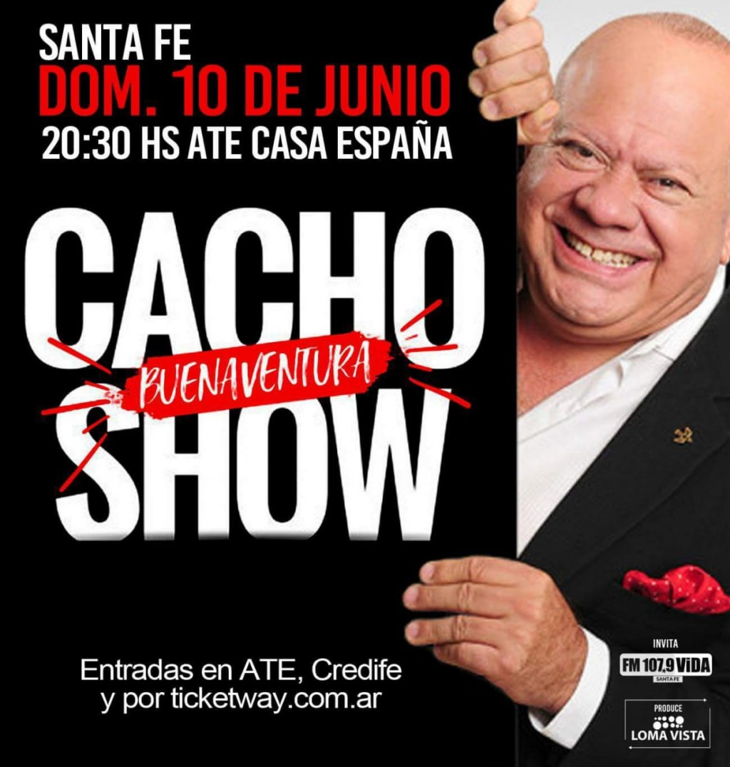 Cacho Buenaventura adelantó detalles de su show en Santa Fe