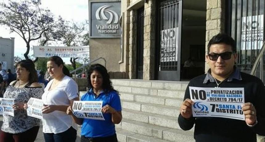 Trabajadores de Vialidad Nacional concretan un paro