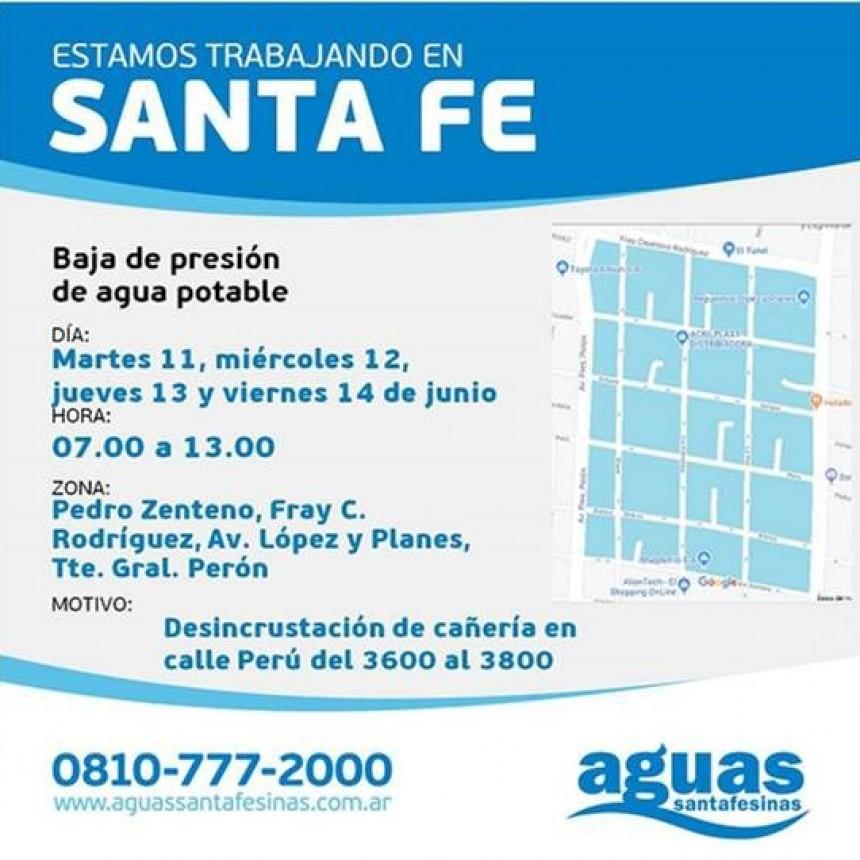 Baja presión de agua en barrio Barranquitas