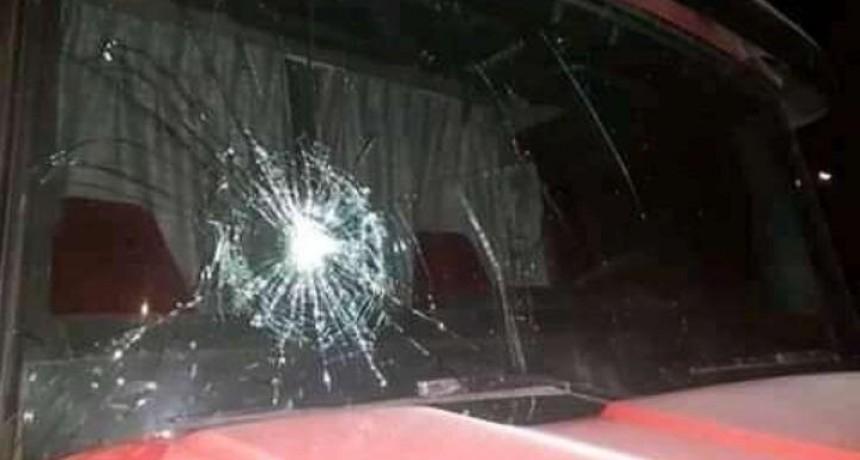 Ataque con piedras  a camioneros en los ingresos a la ciudad