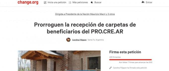 Una santafesina impulsa colecta de firmas para prorrogar y actualizar el ProCreAr