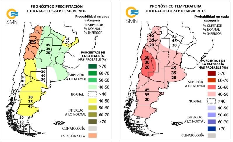 El Servicio Meteorológico Nacional pronostica lluvias y temperaturas mayores a lo normal hasta septiembre