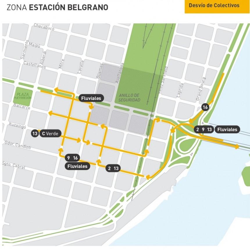 Operativo de tránsito en el centro y en la Estación Belgrano por la Cumbre del Mercosur