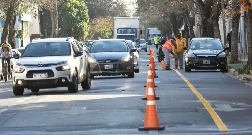 Los comerciantes de calle Urquiza manifiestan que han bajado las ventas desde la construcción de la bicisenda