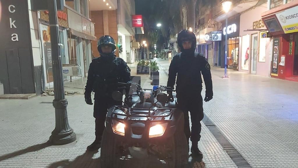 Agentes policiales realizarán patrullaje nocturno en la peatonal por los hechos de inseguridad