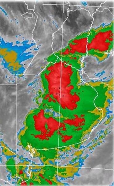 Alerta meteorológica por tormentas fuertes para sur y centro de Santa Fe