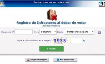 La Cámara Nacional Electoral habilitó el sitio web para justificar la no emisión del voto