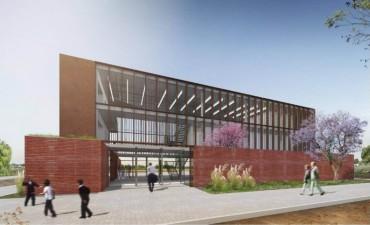 El edificio de las Escuelas de Trabajo tiene un avance de obra del 70 por ciento
