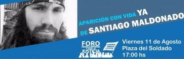 Santafesinos se movilizan por Santiago Maldonado