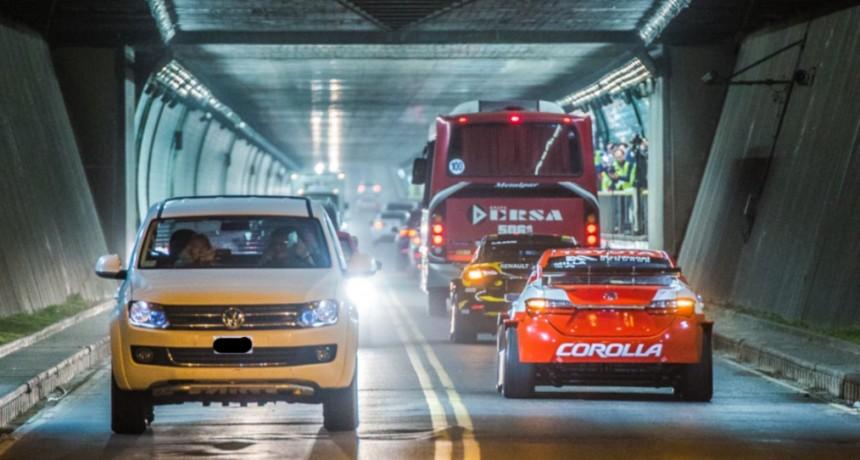Los autos del Súper TC 2000 realizarán el cruce del Túnel Subfluvial