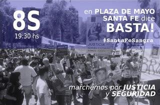 Víctimas de la inseguridad convocan a la marcha Santa Fe Sangra para el 8 de septiembre