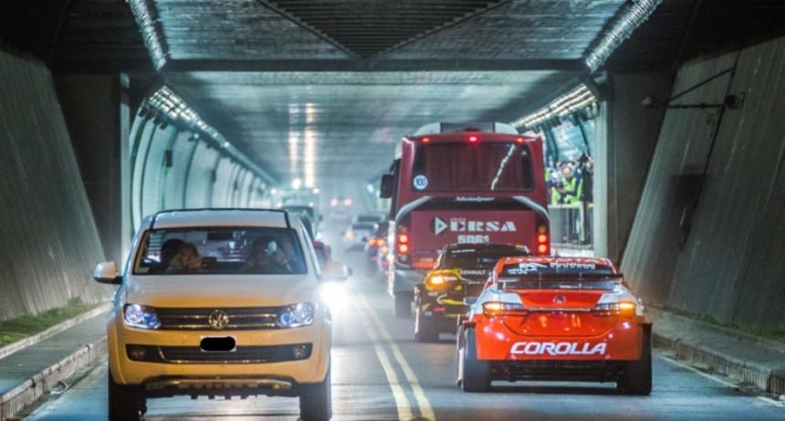 Operativo de tránsito en el Túnel Subfluvial por el partido Colón - Atlético Tucumán