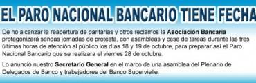 Los bancarios profundizarán su plan de lucha la semana próxima