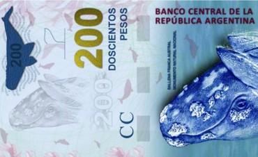 El nuevo billete de doscientos pesos se lanzará el 26 de octubre en Puerto Madryn