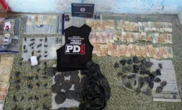 La PDI secuestró estupefacientes en el centro de la ciudad de Santa Fe