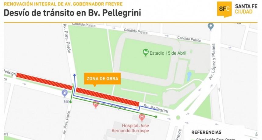 El tránsito del carril norte de Boulevard Pellegrini estará cortado entre Presidente Perón y la rotonda del hospital Iturraspe durante 2 meses