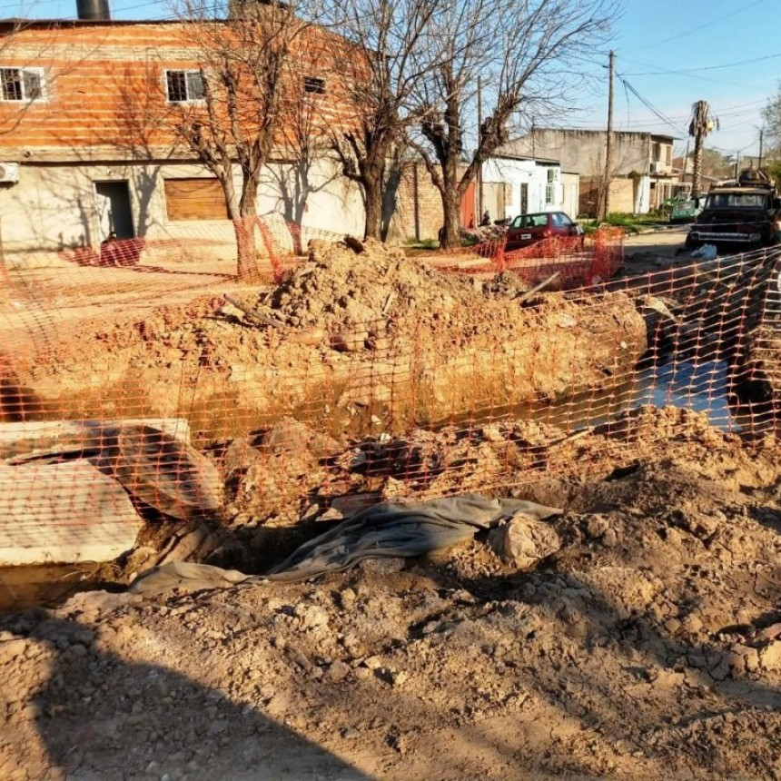 El Concejo aprobó la solicitud de un plan de contingencia por la paralización de la obra del Desagüe Espora