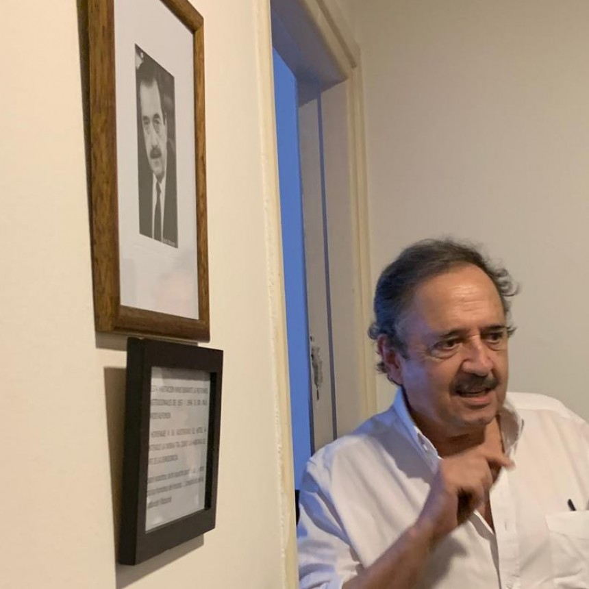 Ricardo Alfonsín visitó el Castelar Hotel Château