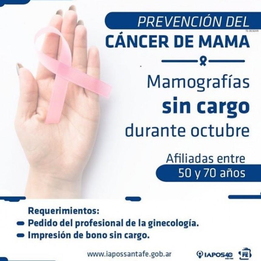 Iapos realiza mamografías sin cargo durante octubre