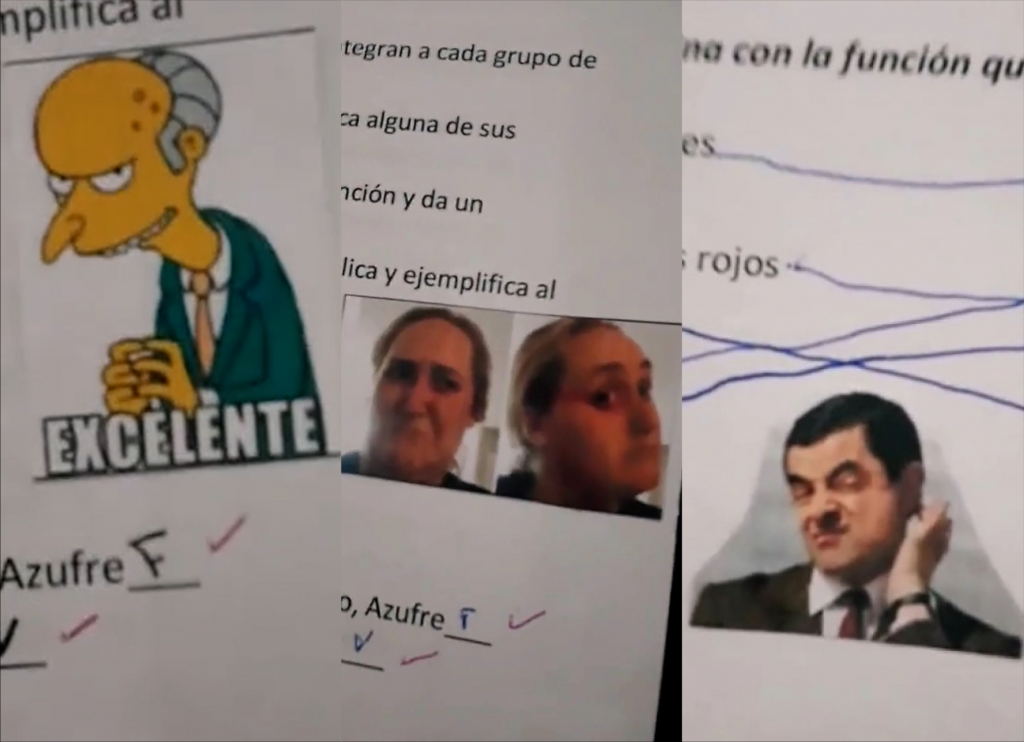 Maestra califica con stickers y memes
