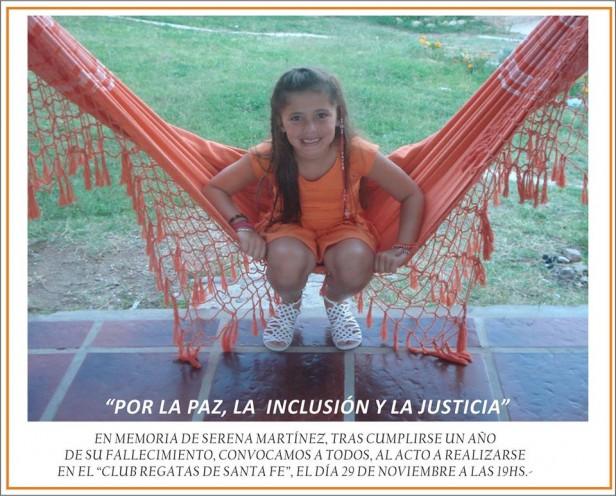 Familiares de la niña asesinada por una bala perdida en Regatas se movilizan el sábado a un año del crimen