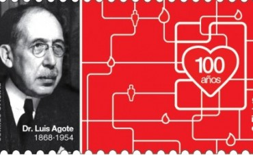 El Correo Argentino lanza una estampilla al cumplirse 100 años de la primera transfusión de sangre