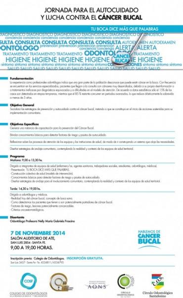 Jornada para el autocuidado y la prevención del cáncer bucal