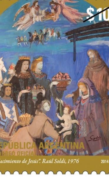 El Correo oficial y el Vaticano lanzaron una estampilla navideña conjunta