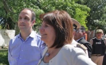 Patricia Bullrich aseguró un refuerzo de operativos en Alto Verde