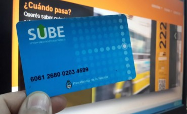 La tarjeta SUBE se puede cargar a través del servicio PagoMis Cuentas