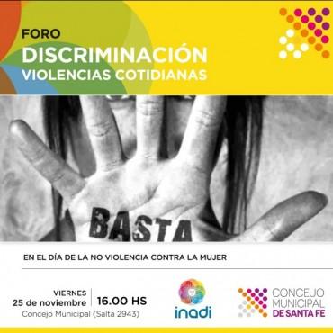 El Concejo será sede de un foro con eje en discriminación y violencias cotidianas