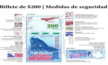 El billete de doscientos pesos comenzará a circular el 26 de noviembre