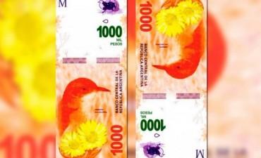 Los billetes de mil pesos circularán desde diciembre