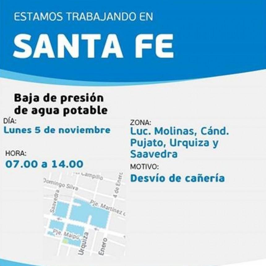 Corte de agua programado para el lunes en barrio Mariano Comas