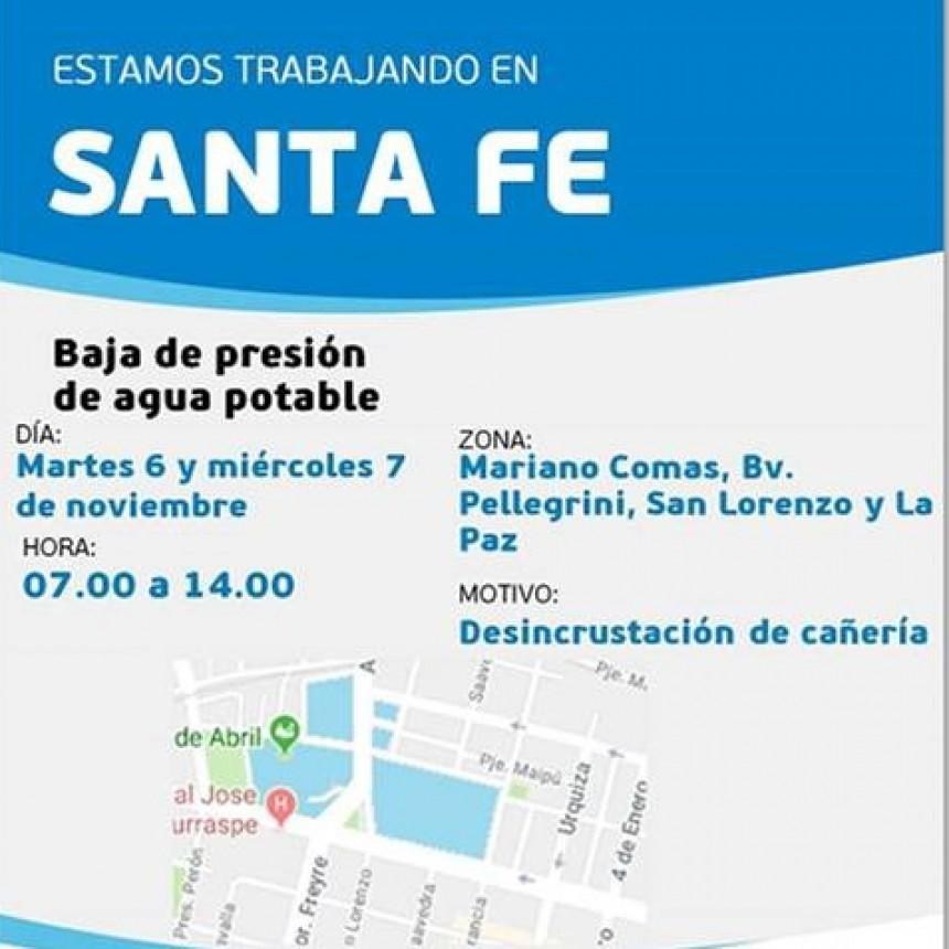 Corte de agua programado para martes y miércoles en barrio Mariano Comas