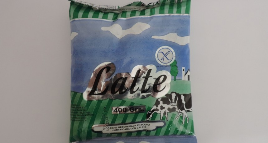 La Assal prohibió dos productos alimenticios marca Latte