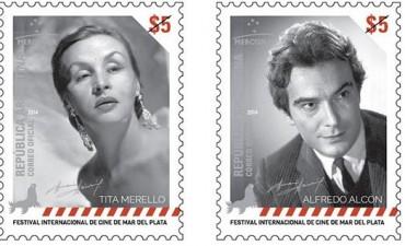 El Correo emite estampillas en homenaje a Tita Merello y Alfredo Alcón