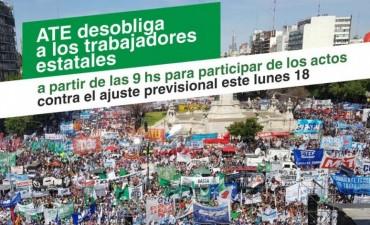 ATE desobliga a trabajadores estatales el lunes para participar de diferentes actos