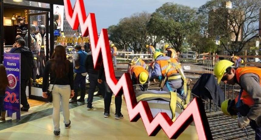 La economía retrocedió 4 por ciento interanual en octubre